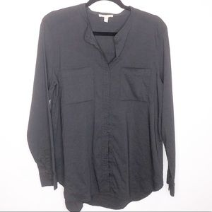 Eileen Fisher Gray Button Up Linen Tunic. Size M